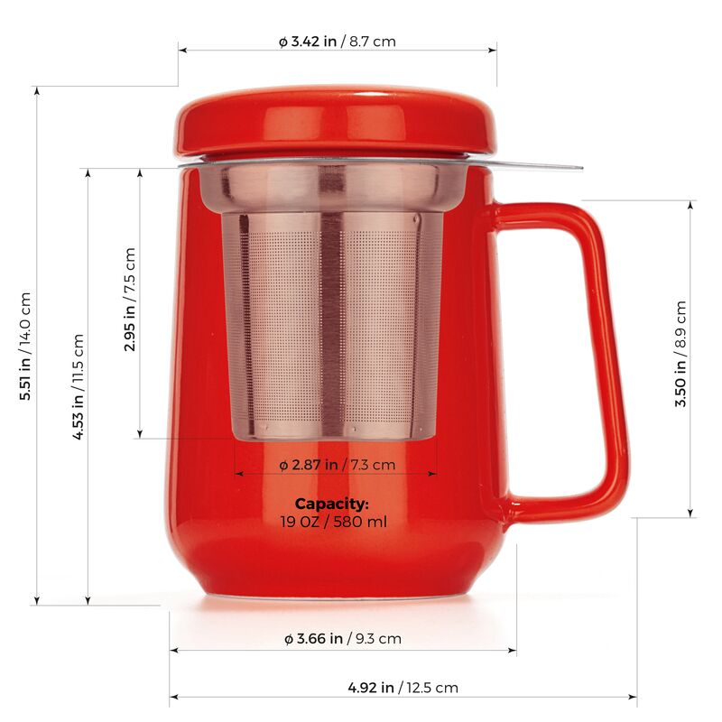 Peak Ceramic Cup Infuser 19oz