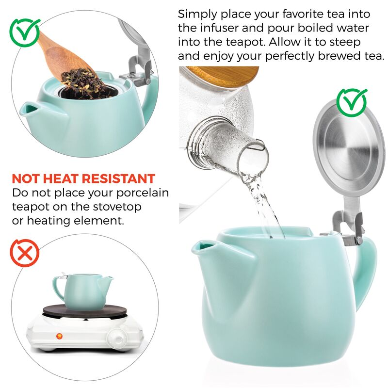 Pluto Porcelain Teapot 540ml